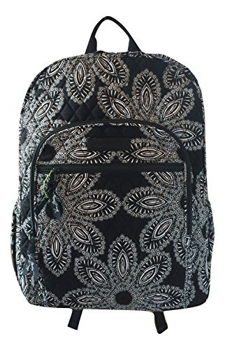 7cbb682ff Vera Bradley Campus Backpack with Solid Color Interior (Updated Version)  (Blanco Bouquet with