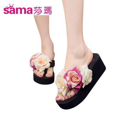 897508ddf Qoo10 - Vinaya Sharma (SAMA) plumeria flower in summer beach slippers ladies  p...   Men s Bags   Sho.