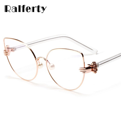 9c6840d0e5 Qoo10 - Vintage Cat Eye Glasses Frames Women Gold Metal Rims Optical Frames  Re...   Fashion Accessor.