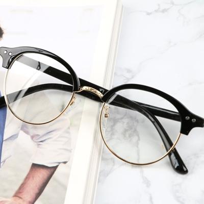 790562262a0 Qoo10 - Vintage circle under gold frame glasses unisex public ...
