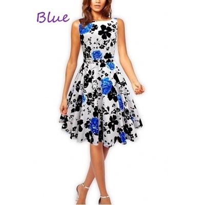 Qoo10 - Vintage Hepburn retro 50s style flower print coton dress ...