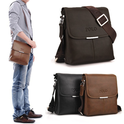 d21f20c87c45 Qoo10 - Vintage Men Shoulder Bag Soft PU Leather Flap Top Casual Business  Brie...   Women s Clothing