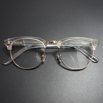 867dd73165 Qoo10 - Vintage Metal Semi Rimless Glasses Clear Optical Spectacle  Eyeglasses ...   Men s Bags   Sho.