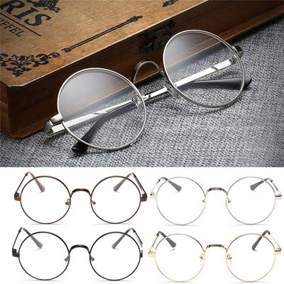 d75701f8fb950b Vintage Oval Lunettes vue Homme Femme Plain Glass Clear Full-Rim Lunettes  de vue MAR16 15