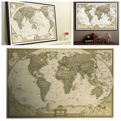 Qoo10 vintage retro paper world map poster children gifts wall vintage retro paper world map poster children gifts wall chart decor gumiabroncs Image collections