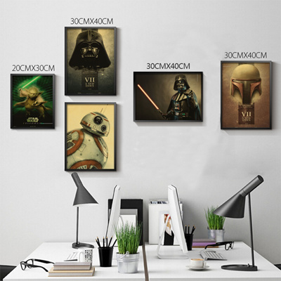 Qoo10 - Vintage Retro poster Star Wars The Force Awakens posters ...