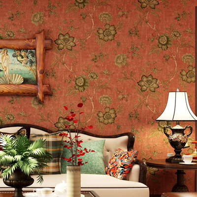 Vintage Style Flower Non Woven Wallpaper For Bedroom Walls Living Room Sofa Tv Background Wall Home