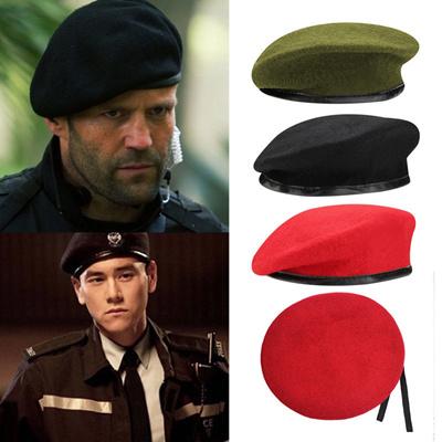 e048d127d7377 Qoo10 - Vintage Unisex Men Women Military Wool Beret Cap Soldier Army Hat    Fashion Accessories
