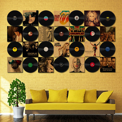 Funky Vinyl Records Decorations For Wall Ideas - Wall Art ...