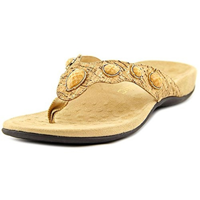 0aa0a7c7def3 Qoo10 - Vionic Womens Rest Bella II Toepost Sandal Gold Cork Size 11   Shoes