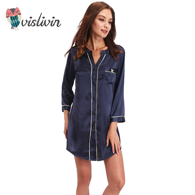 Qoo10 - Vislivin Silk Dressing Gown Bath Robe High-grade Quality ...