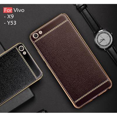 pretty nice c2634 a6225 Vivo V7 Plus Y69 Y53 X9 Soft Plating Leather Case Cover Casing Housing