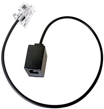 VoiceJoy RJ9 Headset Adapter Extension Cord - Female to Male 4P4C Cable,  not RJ11/RJ12, for Plantron