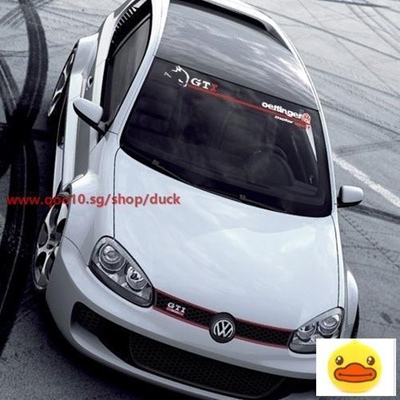 Volkswagen scirocco car gti windshield glass stickers style reflective car stickers front stop stick