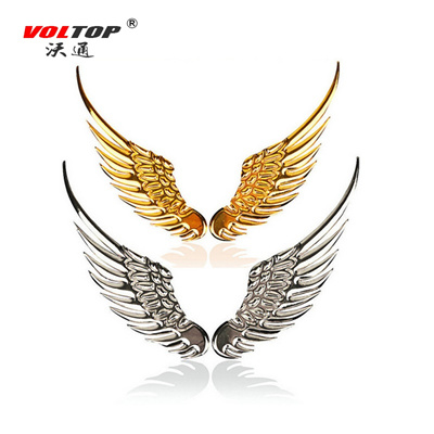 Qoo10 Voltop 3d Stereo Car Stickers Metal Eagle Angel Wings Auto
