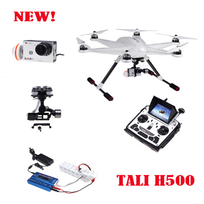 Walkera TALI H500 FPV RTF RC Helicopter drone with Camera + G-3D Gimbal  iLook IMAX B6 Charger DEVO F12E Transmitter quadrocopter