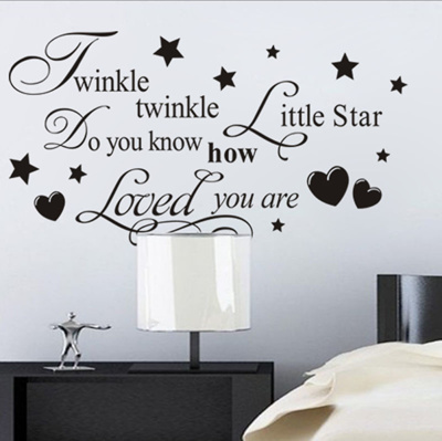 Wall Decal Quote Twinkle Twinkle Little Star Do You Know How Loved You Are Art & Qoo10 - Wall Decal Quote Twinkle Twinkle Little Star Do You Know How ...