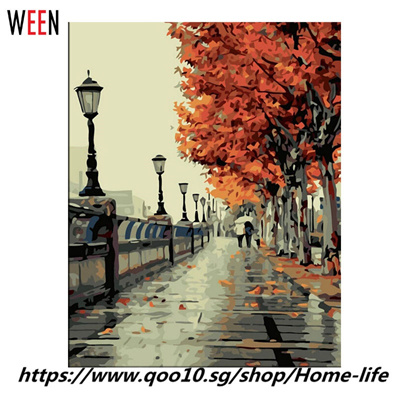 Qoo10 Wall Pictures Paint By Numbers Diy Landscape Decoracion - Diy-hogar