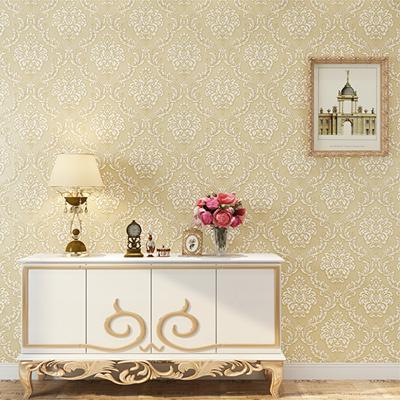 Wallpaper Bedroom Living Room Tv Background Wall 3d Embossed Damascus Thick Wallpaper