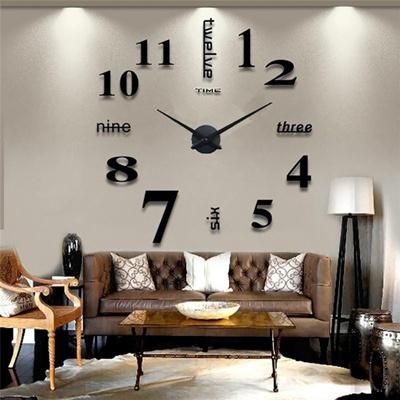 Wand Uhr Wohnzimmer Wanduhr Spiegel Wandtattoo Deko XXL 3D Caf Konferenzraum