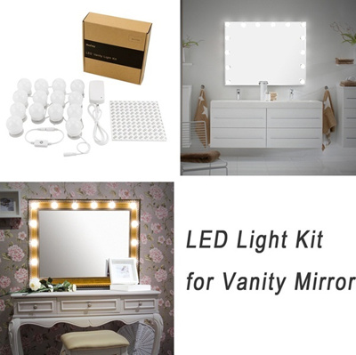 vanity set with mirror lights. WanEway Hollywood Style LED Vanity Mirror Lights Kit For Makeup Dressing  Table Set Mirrors Wi Qoo10