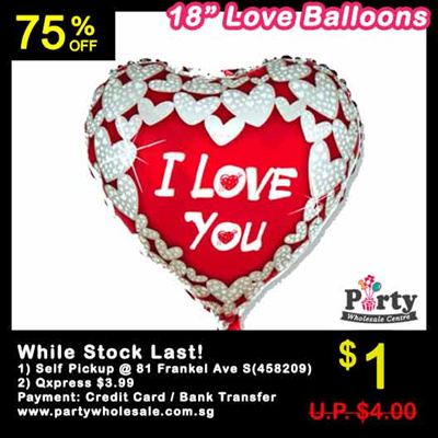 WAREHOUSE SALE Love Balloons Wedding Proposal Surprise Balloon Decoration Heart