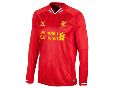 buy online 5fdb6 38491 WARRIORBrand New With Tags Warrior Liverpool 2013 2014 Home Long Sleeves  Jersey Football Soccer English Premier League