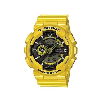 Watch Casio Casio G Shock Yellow Analog Digital Dial Resin Quartz Men S Watch Ga110nm 9a Men For Men