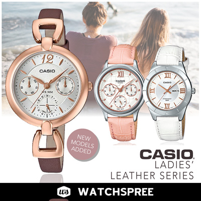 efd3dd7a62cf  APPLY 25% OFF COUPON   CASIO GENUINE  Ladies Leather 2! Free