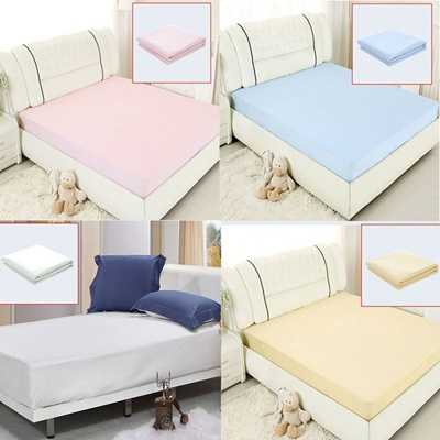 Waterproof Bed Sheets Changing Mat Mattress Protector Cover Pad With TPU