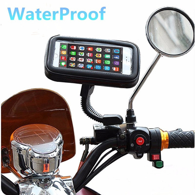 newest e8b2e a1079 waterproof motorcycle motorbike scooter mobile phone holder bag case  iphone5 6 7/etc(mount to