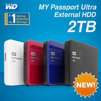 WD My Passport Ultra 2TB Portable External Hard Drive NEW