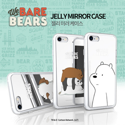 buy popular 24d0a cffdc ★ We Bare Bears Jelly Mirror Case ★ iPhone X / iPhone 8 / iPhone 7 ★ Galaxy  Note 8 / S8 / S7 ★