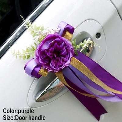 Qoo10 Wedding Car Decoration Flower Door Handles Rearview Mirror