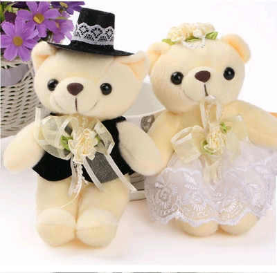 Wedding Couple Bear Towel Gifts Anniversary ROM Suitable