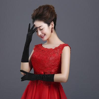 Short Wedding Dress with Gloves