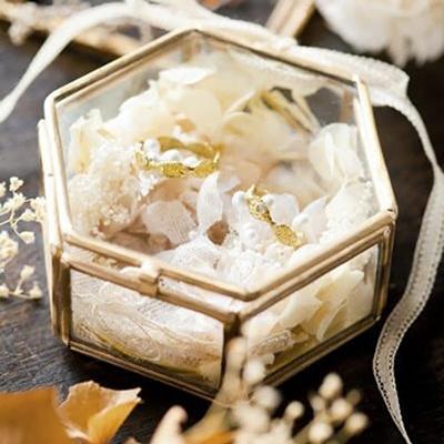 Wedding Ring Box.Wedding Ring Box Ring Box Transparent Golden Glass Jewelry Box Storage Box Jewelry Box Vintage Engag
