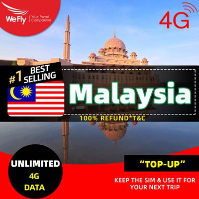 WeFly 【Malaysia sim card】1/3/5/6/7/10 days Unlimited data 4G (Network by  Celcom)