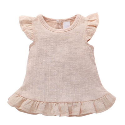 20f59d0c340e0 Qoo10 - WEIXINBUY Baby Girl Dress Baby Clothes Shirt Top Linen Cotton  Casual B...   Baby   Maternity