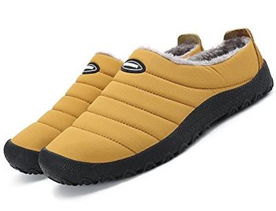 44c454e7dbd Qoo10 - (welltree) Women Men Indoor Outdoor Slippers Fur Lined Winter  Waterpro...   Shoes