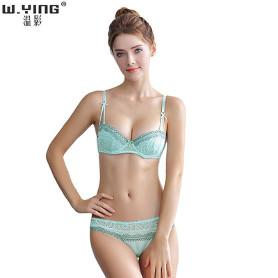 Qoo10 - Wen Ying bra set thin cotton half cup sexy lace underwear set and  ches...   Underwear   Sock. 2c493f77a