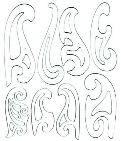 Qoo10 - Westcott French Curve Template Set of 8 : Stationery & Supplies