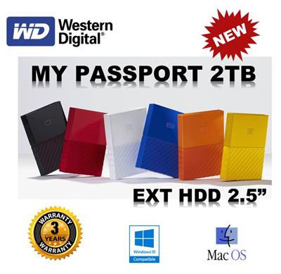 Western DigitalWD 2TB My Passport Portable External Hard Drive NEW Elements  Transcend Toshiba (SG warranty set)