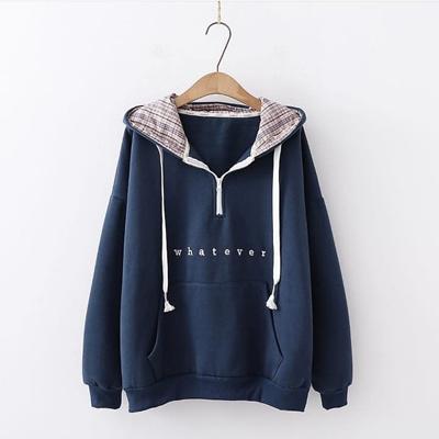 Qoo10 - Whatever Sweater    Jaket Hoodie    Sweater Wanita   Pakaian 0290233afe