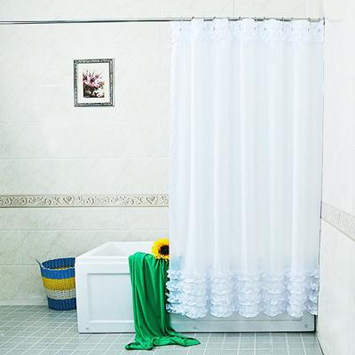 Ruffles Design Shower Curtain Bathroom