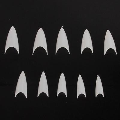 white nail sharp pointed nail a nail tip French fake nails short nail 500pcs