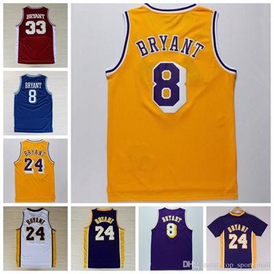 quality design c4779 4b227 Wholesale 24 Kobe Bryant Jersey 8 Throwback High School Lower Merion 33  Kobe Bryant Retro Shirt Unif