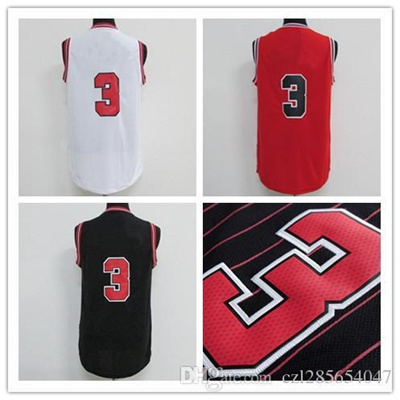 best service 2660a 6da82 Wholesale Dw basketball jerseys Home Swingman Stitched #3 Red Replica  Jersey Embroidery logo number