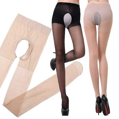 0f72e1f3a7a wholesale Fashion 1PC Sexy Elasticity Open Crotch Silk Stockings With Holes  Women Tigthts Pantyhose