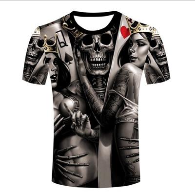1cb956e5dc27 Qoo10 - Wholesale Men The Dark Poker T-shirt Queen King Tattoo Skull 3d  Print ...   Women s Clothing